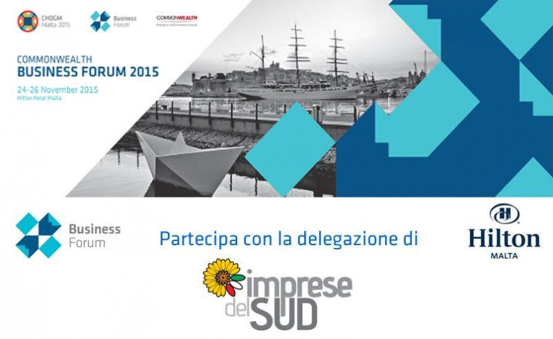 Malta 24-26 novembre 2015 – Commonwealth Business Forum 2015