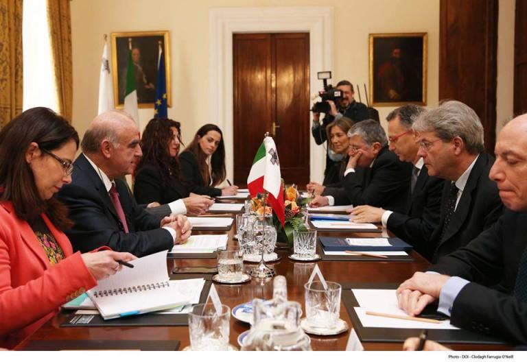 Incontro bilaterale Malta-Italia. Il futuro del mediterraneo è la pace