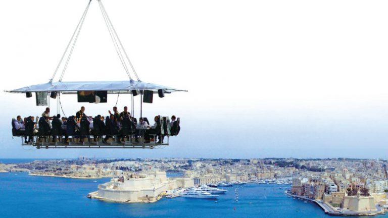 Dinner The Sky sbarca a Malta ad Agosto. Cena ad alta quota