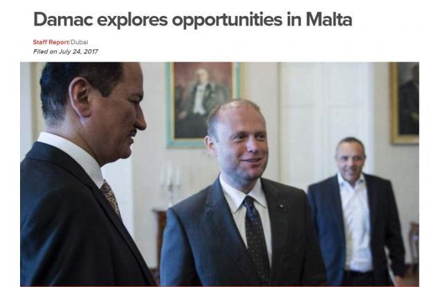 Occhi puntati su Malta da parte di investitori di Dubai