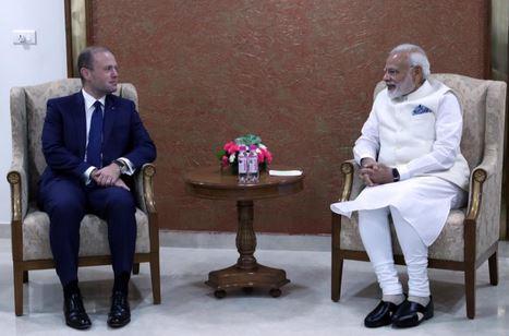 Joseph Muscat in India: incontro con il premier Narendra Modi
