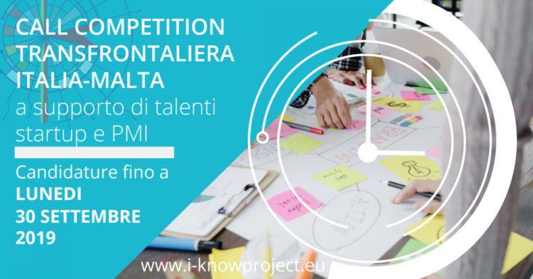 Al via la Call Competition transfrontaliera Italia-Malta