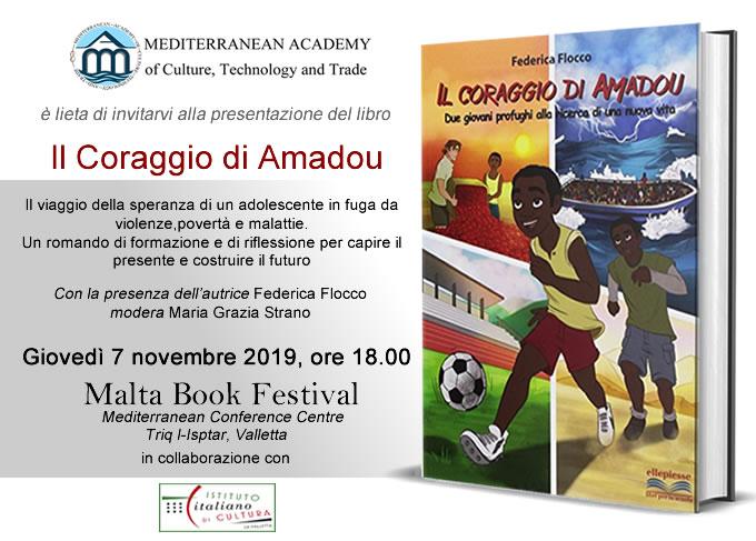 """""""Il Coraggio di Amadou"""" al Book Festival 2019"""