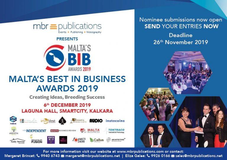 Malta's BIB Awards: gli oscar dell'imprenditoria maltese