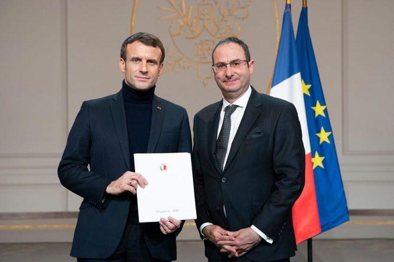 Nuovo ambasciatore maltese in Francia: udienza da Macron