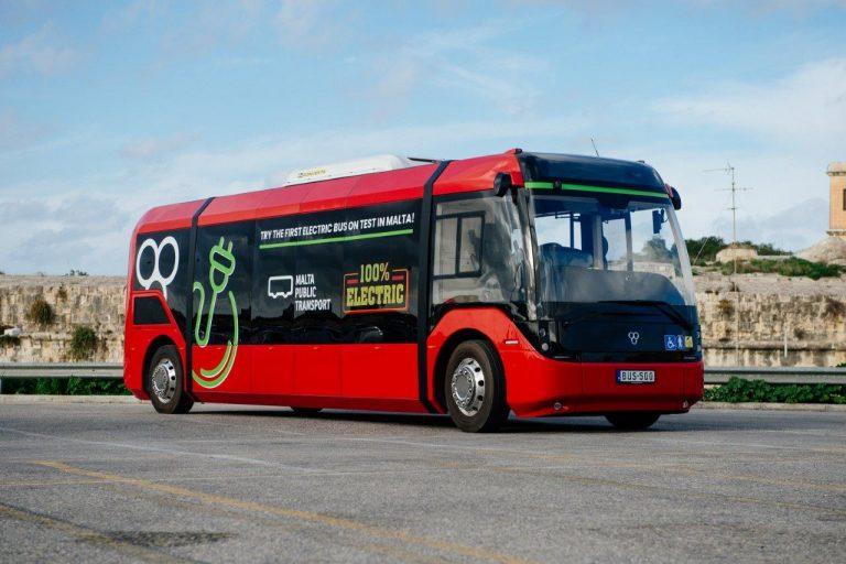 Malta Public Transport lancia il nuovo bus elettrico