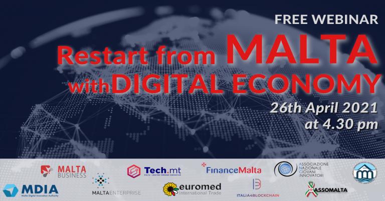 Ripartire da Malta con la Digital Economy: il webinar gratuito
