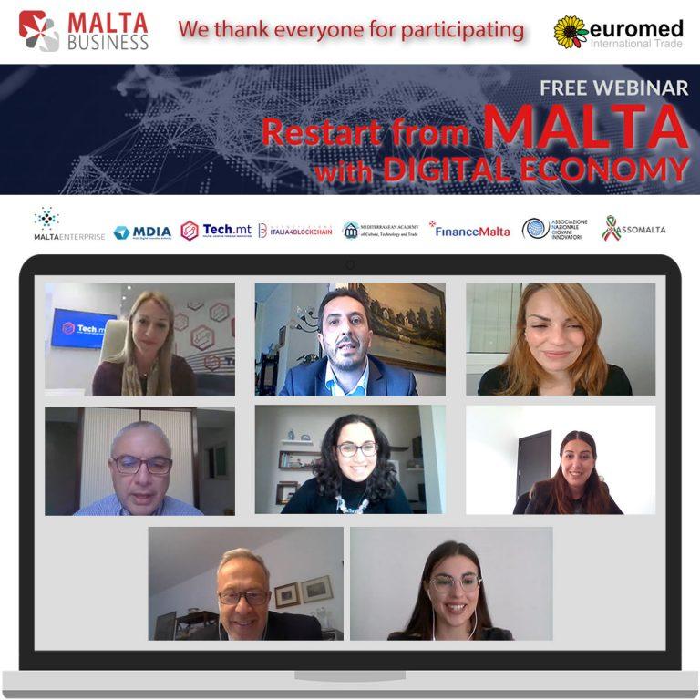 Ripartire dall'economia digitale: il webinar di Malta Business